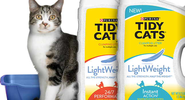 Tidy Cats Lightweight Litter Won't Leave Kitty Sitting Pretty